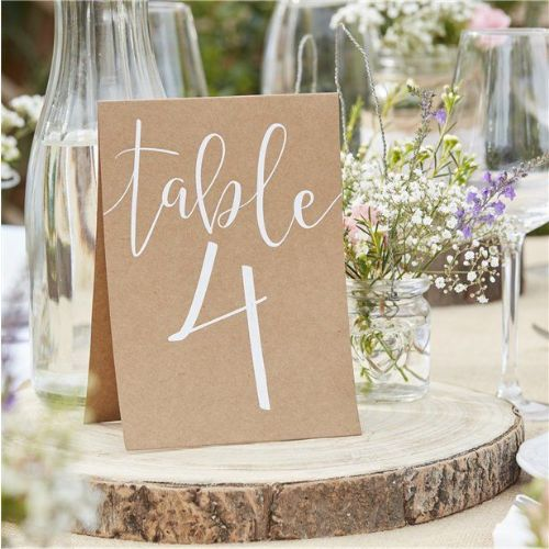 Rustic Country Table Number Cards (12pk)